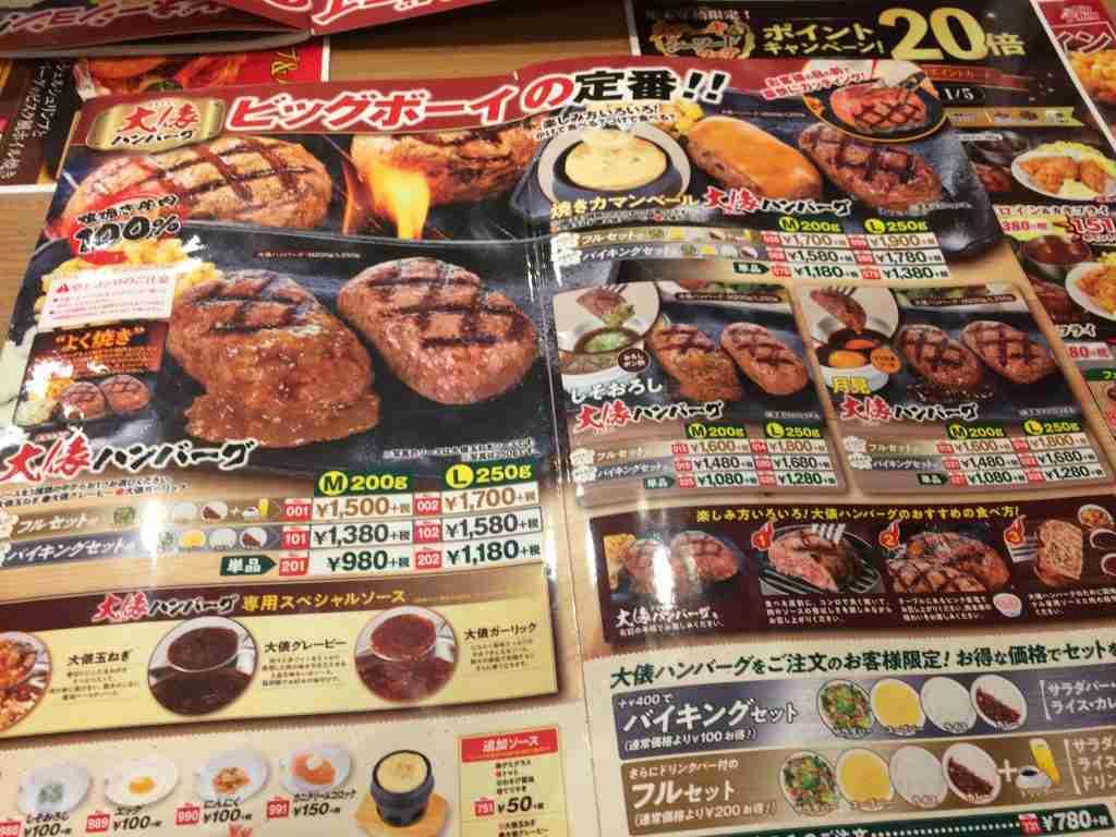 日本平價家庭餐廳Big Boy